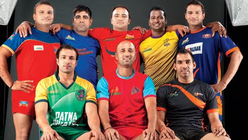The 8-team captains of the Pro Kabaddi League