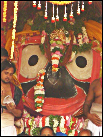 Lord Jagannath - brought outside towards his chariot.