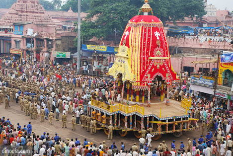 The chariot of Lord Jagannath is ready to be pulled ahead.