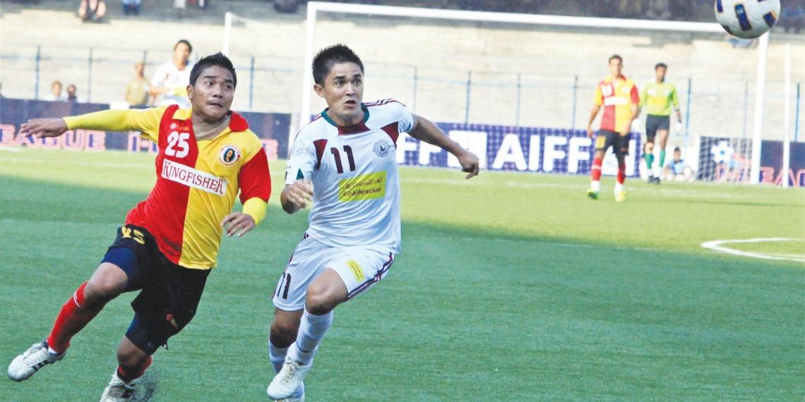 East Bengal vs Mohun Bagan at I-League football match
