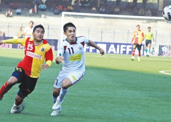 East Bengal vs Mohun Bagan at I-League football match