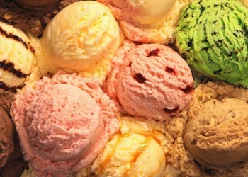 Scoops of Various Ice Creams