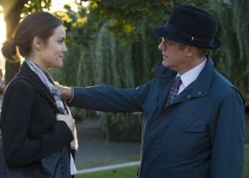 "THE BLACKLIST -- ""The Mambasa Cartel"" Episode 206 -- Pictured: (l-r) Megan Boone as Elizabeth Keen, James Spader as Red Reddington -- (Photo by: Virginia Sherwood/NBC)"