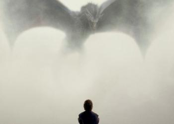 Affiche saison 5, Tyrion face au dragon