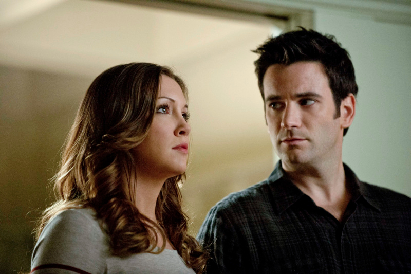 """Arrow -- """"Unfinished Business"""" -- Image AR119c_0105b -- Pictured (L-R): Katie Cassidy as Laurel Lance and Colin Donnell as Tommy Merlyn -- Photo: Cate Cameron/The CW -- © 2013 The CW Network. All Rights Reserved"""