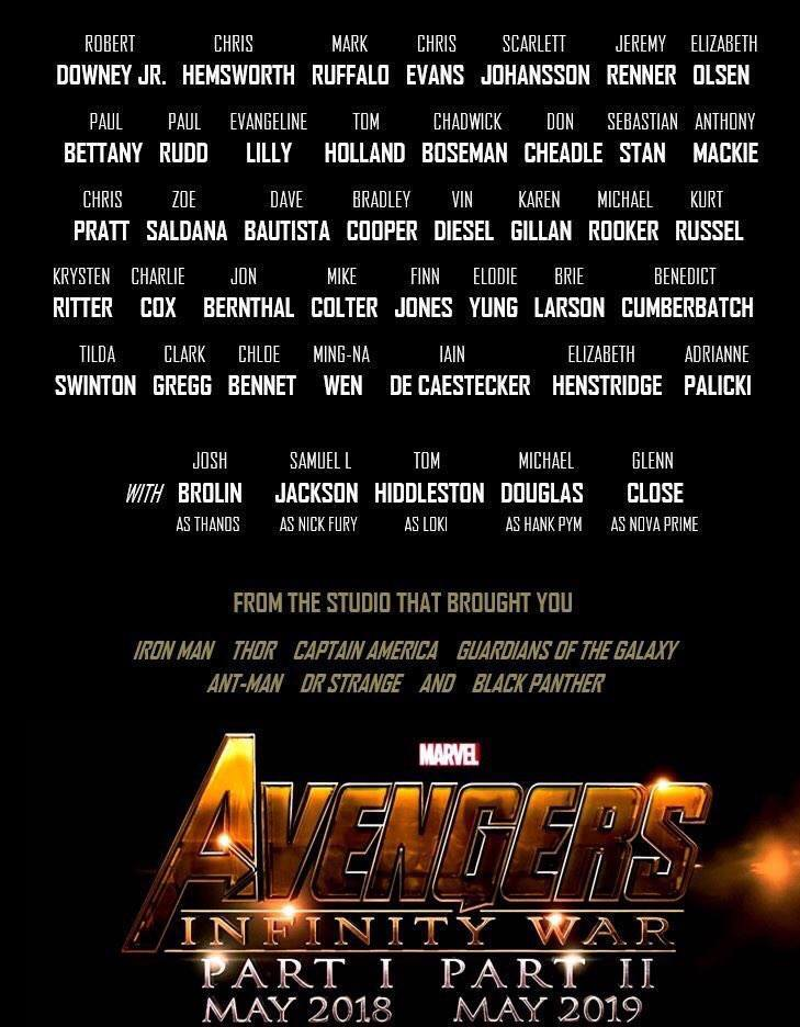 Avengers Infinity War Cast: Here's What We Know Till Now ...