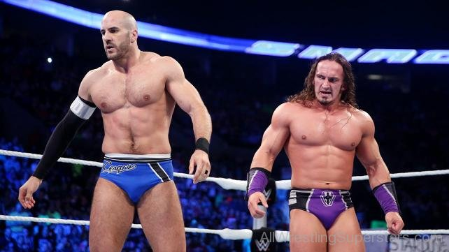Antonio-Cesaro-And-Andrian-Neville-In-The-Ring