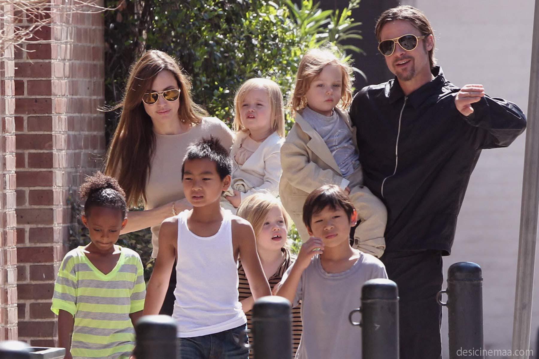 Angelina jolie family latest photos