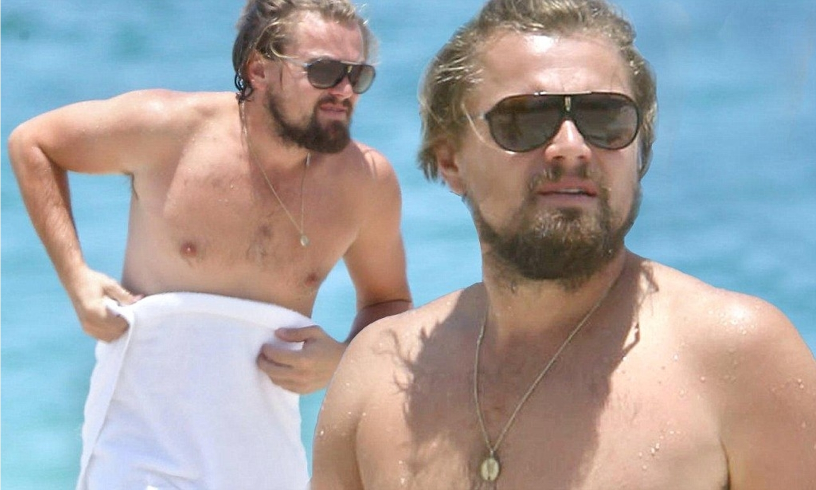 Photo of Leonardo DiCaprio Went Shirtless On Beach With Girlfriend Nina Agdal