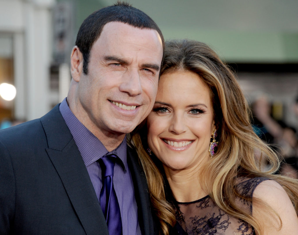 "WESTWOOD, CA - JUNE 25: Actors John Travolta and Kelly Preston arrive at the Los Angeles premiere of ""Savages"" at Mann Village Theatre on June 25, 2012 in Westwood, California. (Photo by Gregg DeGuire/WireImage)"