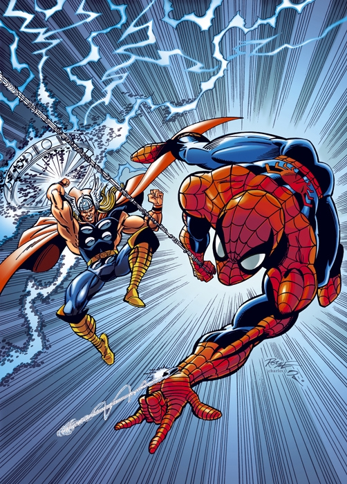 spidey -thor cover
