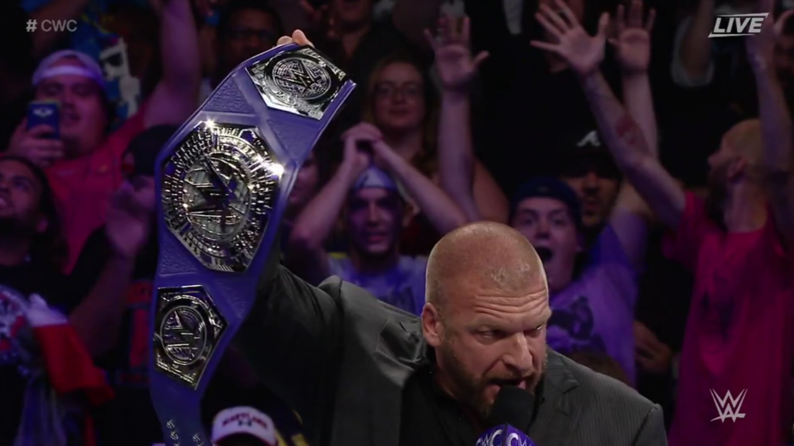 Photo of Triple-H Unveils New Cruiserweight Title