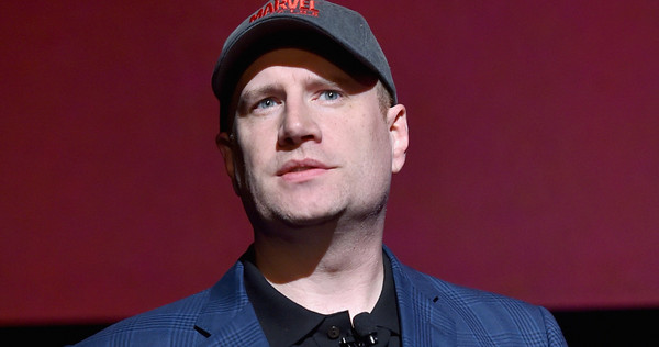 LOS ANGELES, CA - OCTOBER 28: President of Marvel Studios Kevin Feige onstage during Marvel Studios fan event at The El Capitan Theatre on October 28, 2014 in Los Angeles, California. (Photo by Alberto E. Rodriguez/Getty Images for Disney) *** Local Caption *** Kevin Feige