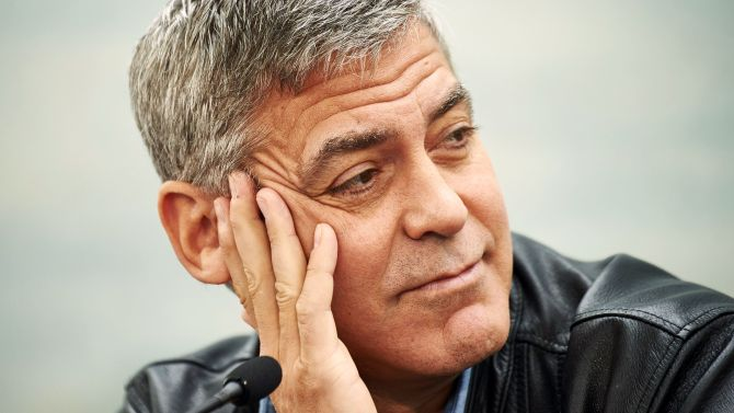 Mandatory Credit: Photo by REX/Shutterstock (4779195n) George Clooney 'Tomorrowland' film photocall, Valencia, Spain - 19 May 2015