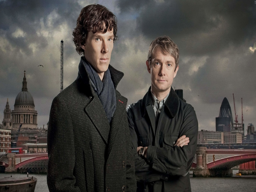 Photo of Benedict Cumberbatch And Martin Freeman Brood For New Official Sherlock Portrait