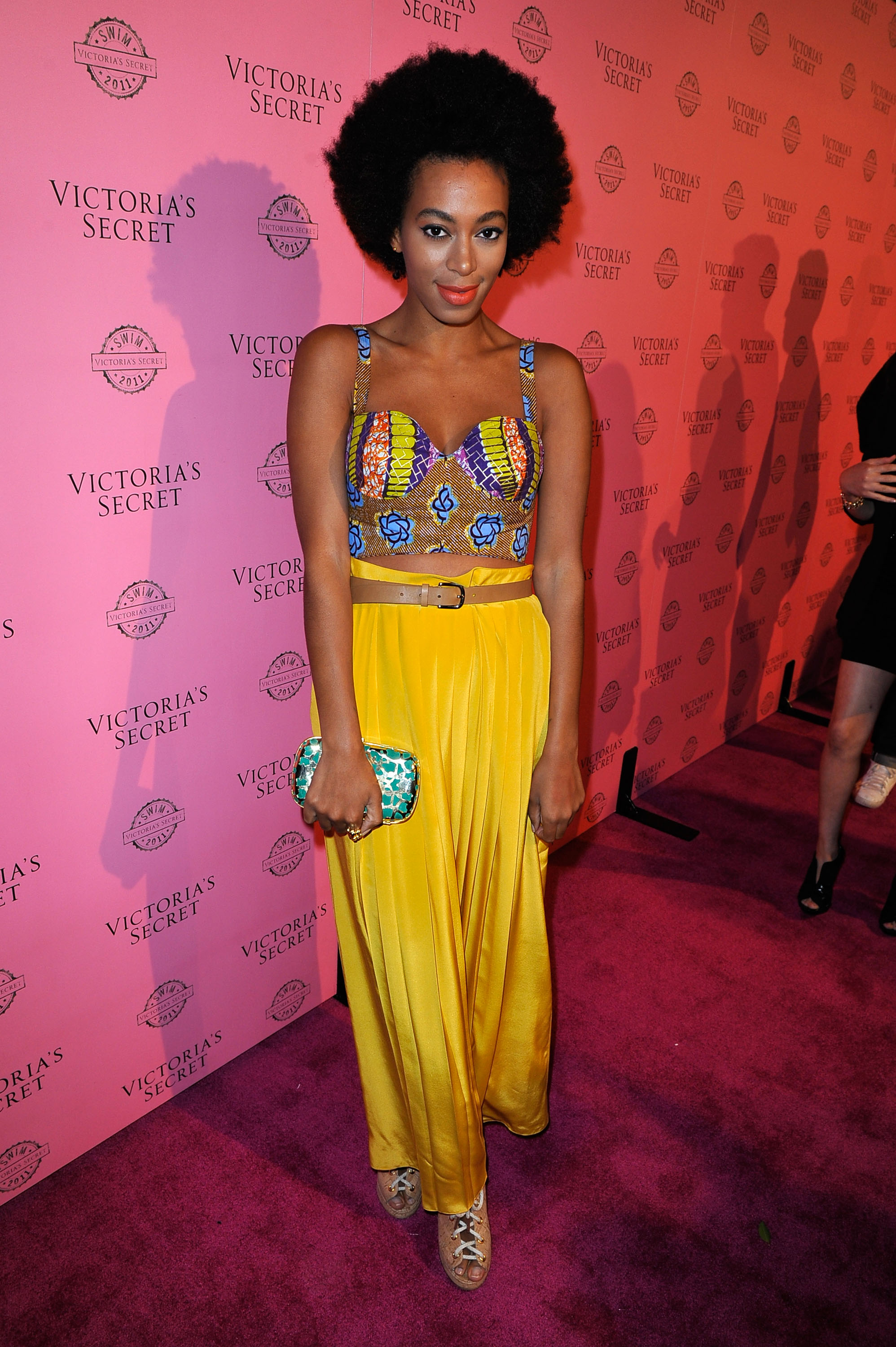 LOS ANGELES, CA - MARCH 30: Solange Knowles arrives at the 2011 Victoria's Secret SWIM Collection Pink Carpet Event hosted by VS Angels at Club L on March 30, 2011 in Los Angeles, California. (Photo by Jerod Harris/Getty Images for Victoria's Secret)