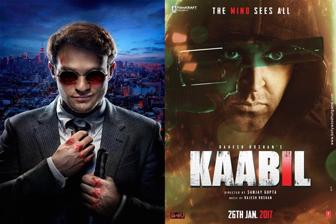 Photo of Is the latest Hrithik Roshan Starrer Kaabil Plagiarized From Netflix Daredevil?
