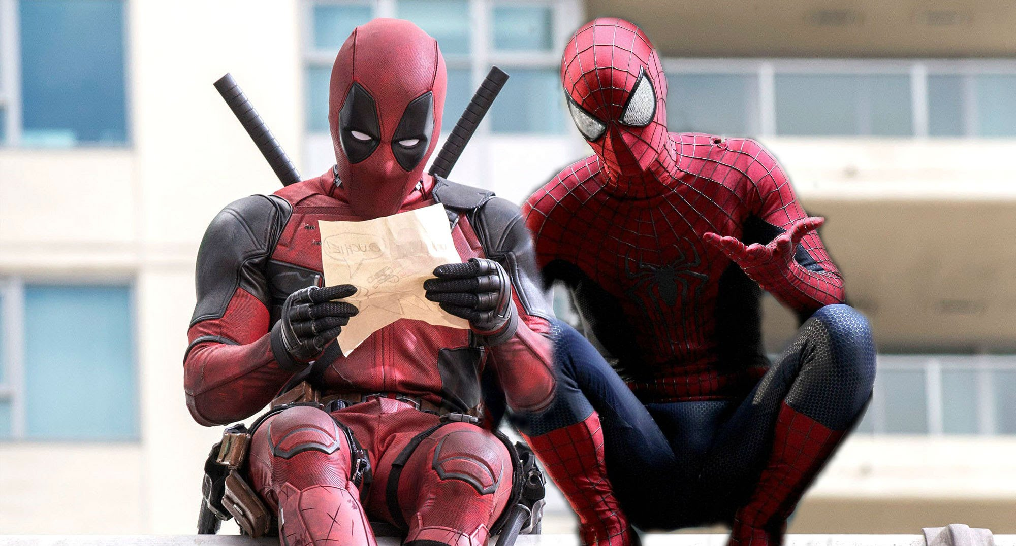 Image result for deadpool spiderman movie