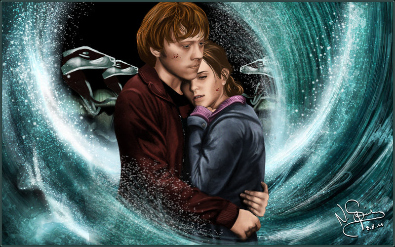 5 most favorite super cute couples in harry potter series - Ron weasley and hermione granger kids ...