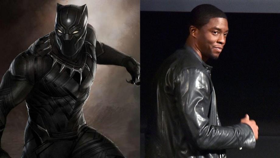 Chadwick Boseman Walks In The Costume of T'Challa