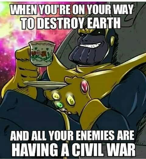 12 Memes on THANOS That Shows Him As The Carefree Ruler of The Realm