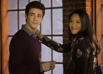 """The Flash -- """"Pilot"""" -- Image FLA101b_0360 -- Pictured (L-R): Grant Gustin as Barry Allen and Candice Patton as Iris West -- Photo: Jack Rowand/The CW -- �© 2014 The CW Network, LLC. All rights reserved"""