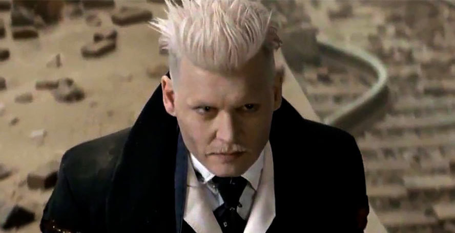 Johnny Depp in Fantastic Beasts and Where to Find Them 2