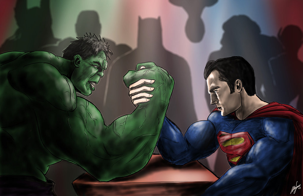 the Hulk and Superman