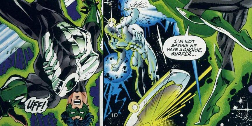 Green Lantern V Silver Surfer