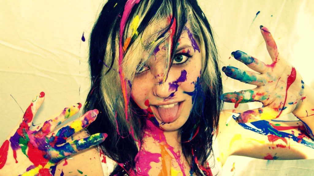 4 Girls Finger Paint Dont Fall For The Trap No Matter How Sexy This May Sound But Reality Is So Disgusting A Sequel To Video 2 1