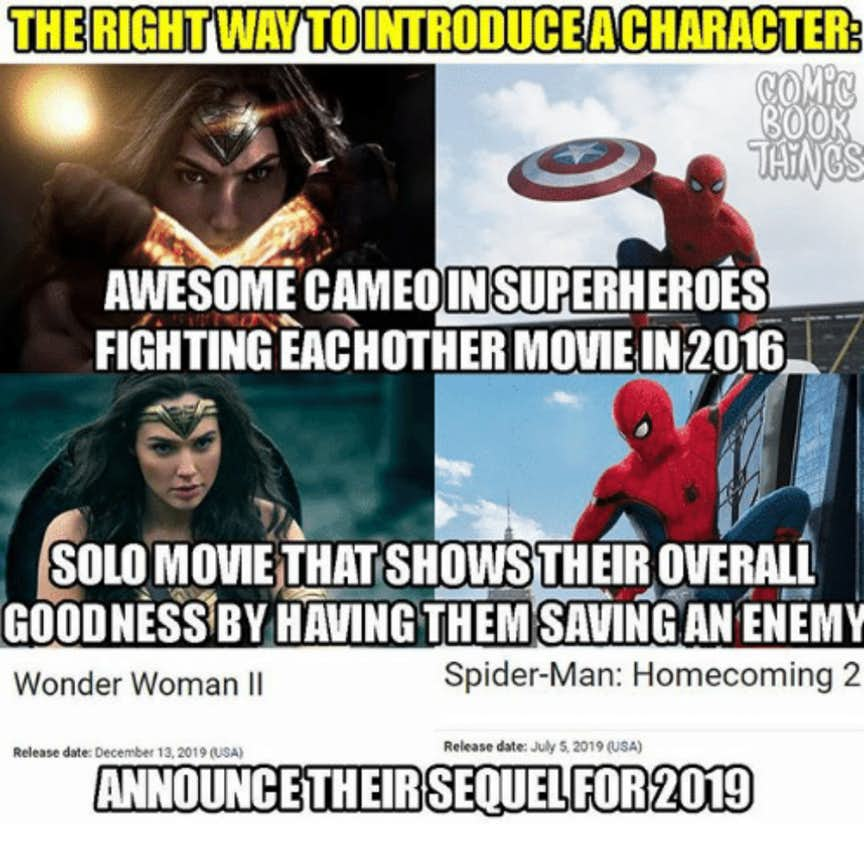 Wonder Woman Spider Man meme 43 funniest wonder woman memes that will make you laugh hard