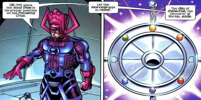 Galactus infinity stone ile ilgili görsel sonucu