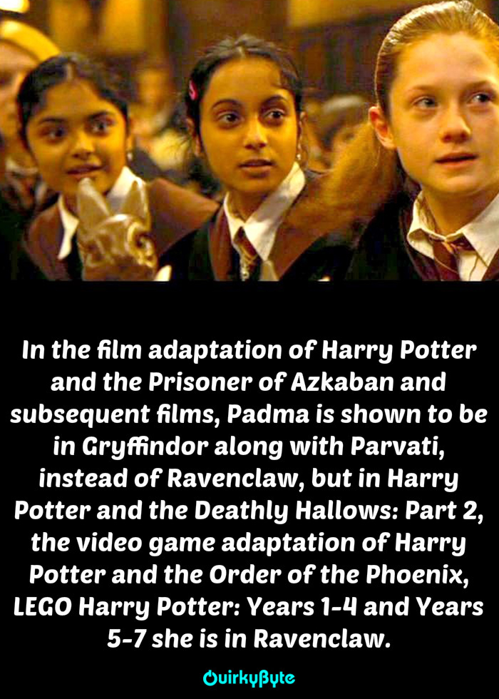 20 Interesting Facts About Patil Sisters From Harry Potter, Padma