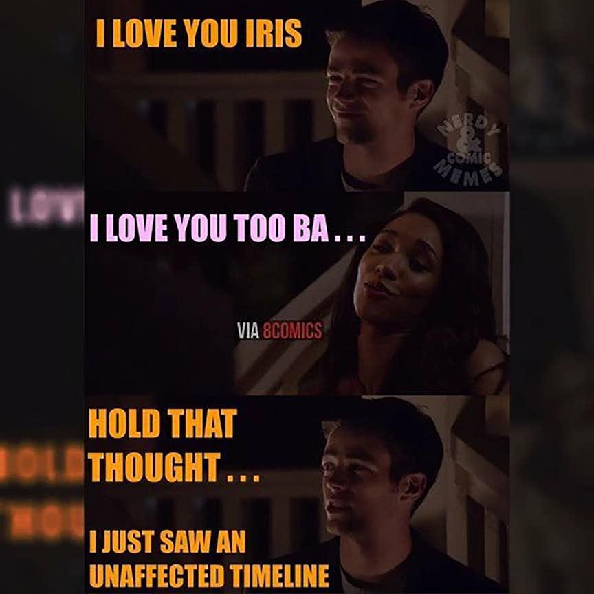 barry allen and iris west relationship memes