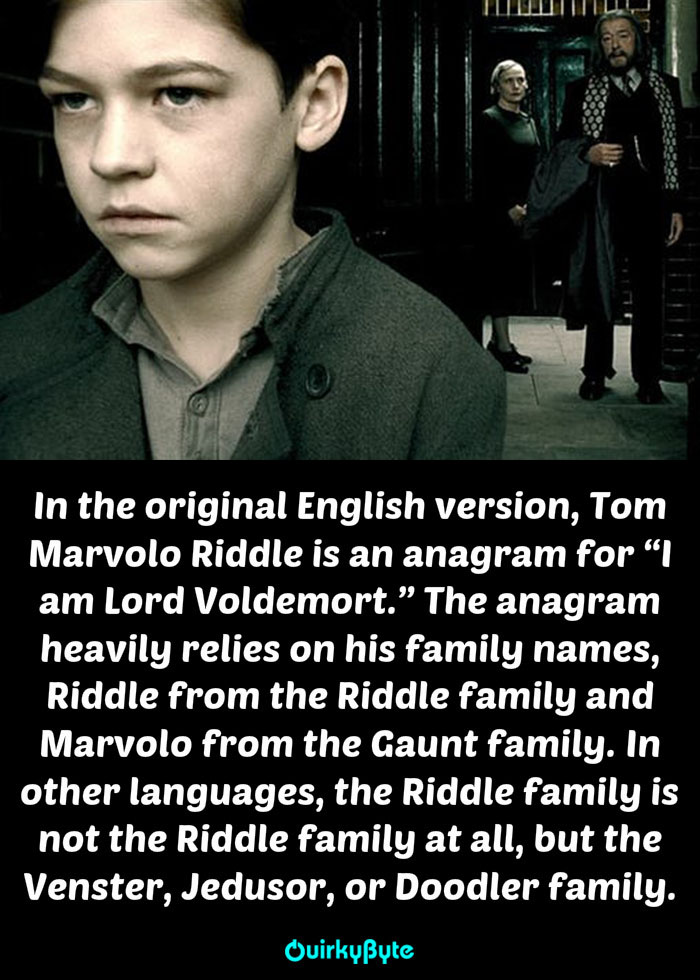 20 strange things you didn u0026 39 t know about the voldemort u0026 39 s family