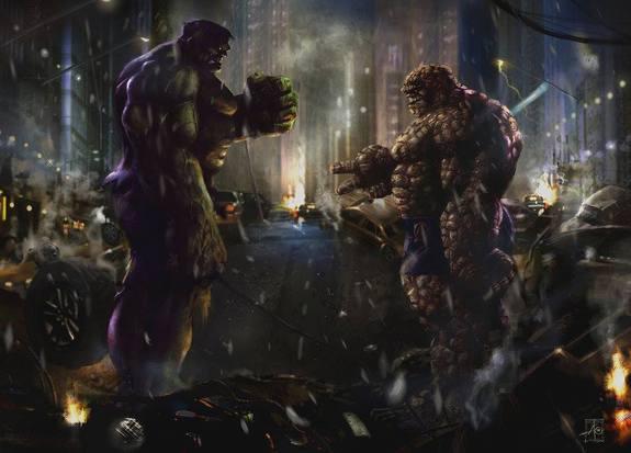 The Hulk vs. The Thing