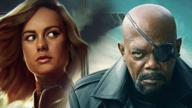 Photo of Samuel L. Jackson Aka Nick Fury Accidentally Reveals Captain Marvel's Official Mask!!!
