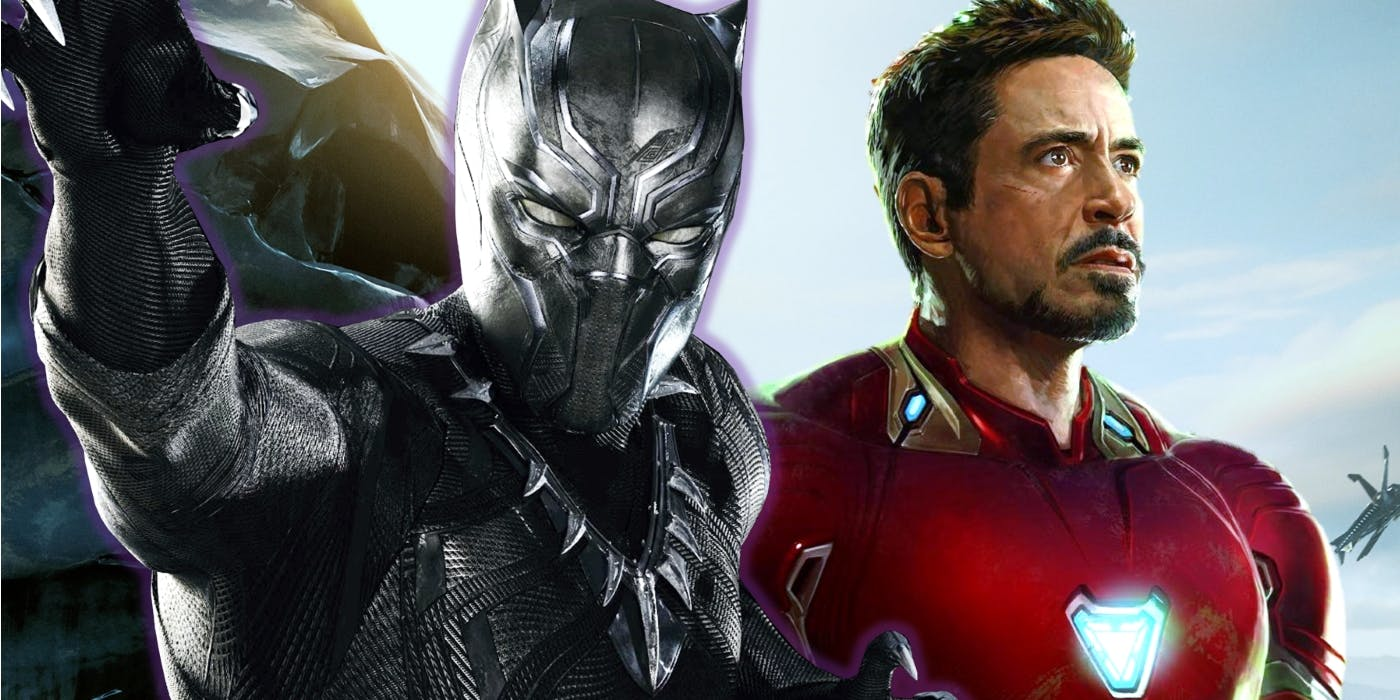 black panther tony stark iron man