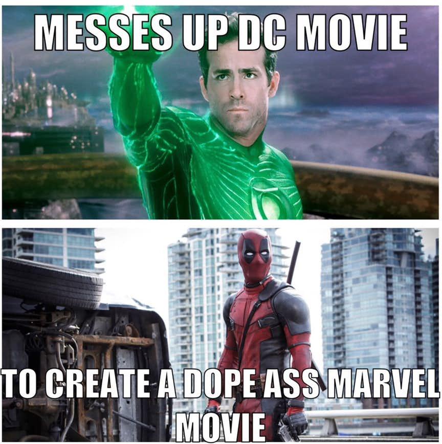 20 funniest green lantern vs deadpool memes that will