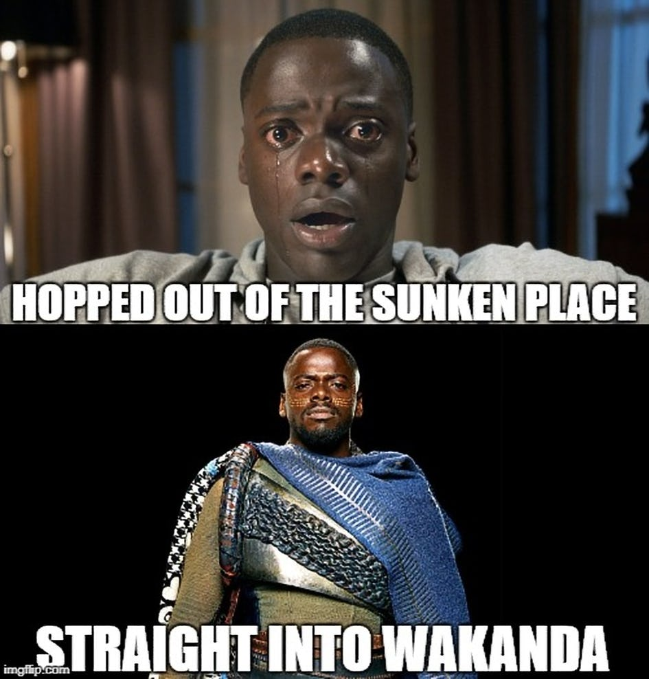 Out-of-the-Sunken-Place-and-Into-Wakanda-Meme - QuirkyByte