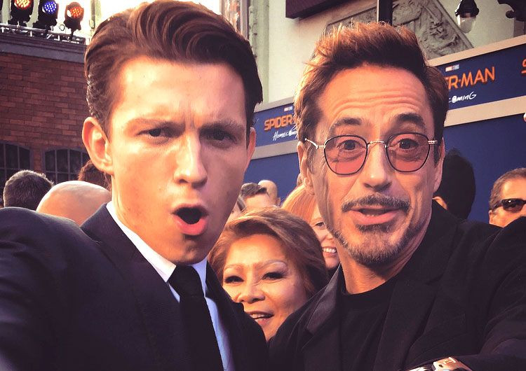 Tom Holland Robert Downey Jr.