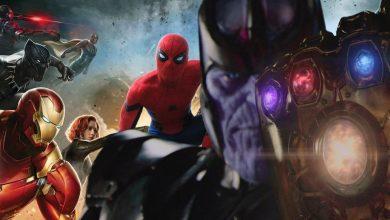 Infinity War iron spider thanos