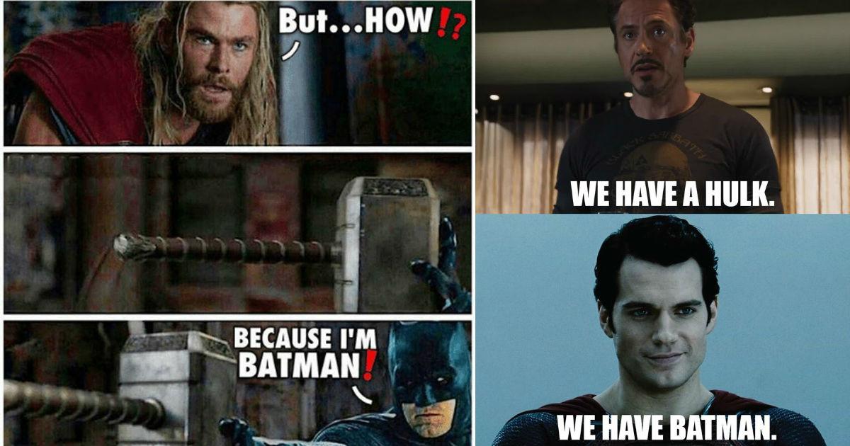 Justice League vs Avengers memes