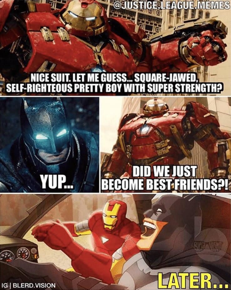 Infinity War Vs DC Funny Memes