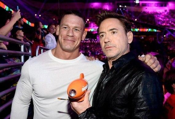 Robert Downey Jr tom holland john cena