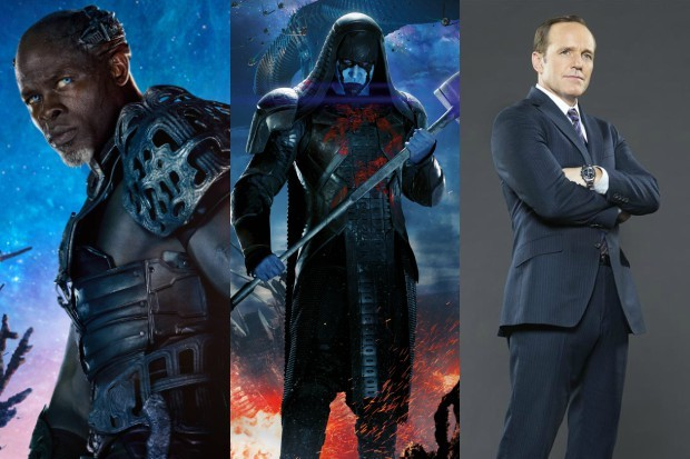 Captain Marvel Nick Fury Phil Coulson