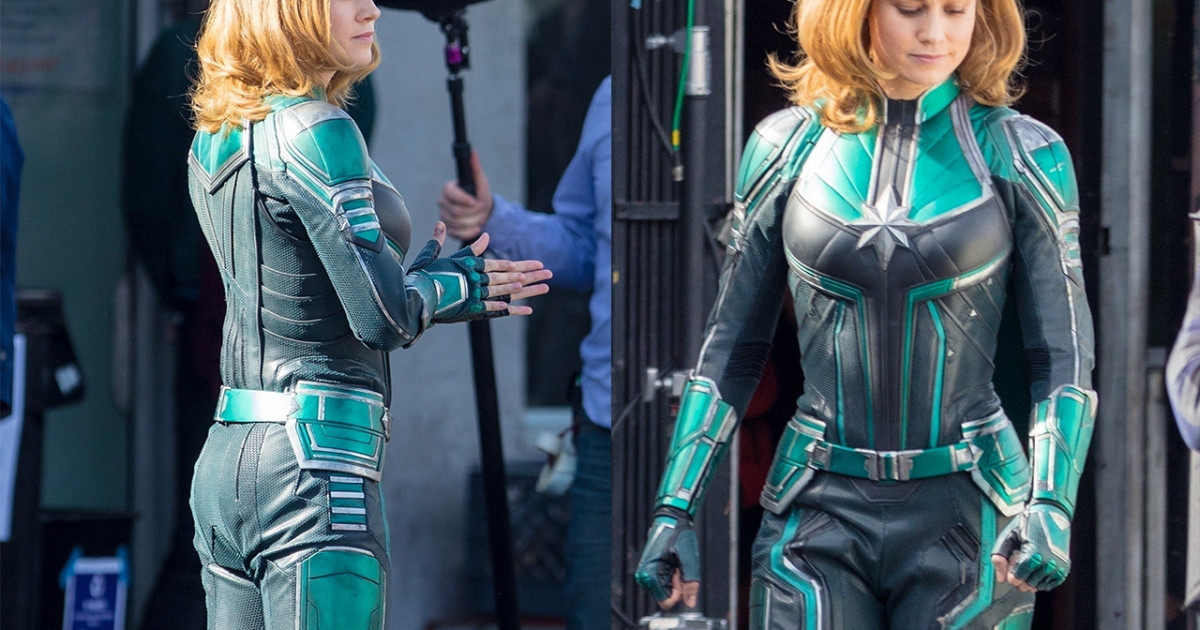 Here S Why Captain Marvel S Costume Is Green And Not Red Blue Like In The Comics Free shipping on orders of $35+ and save 5% every day with your target redcard. here s why captain marvel s costume is