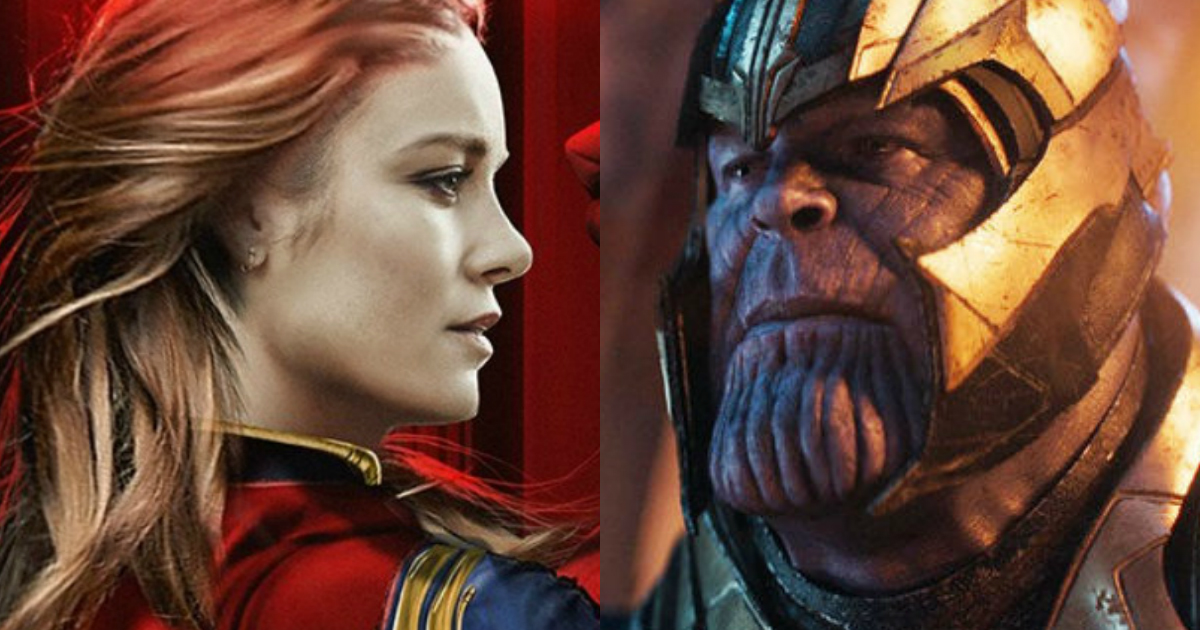 Thanos Vs Captain Marvel