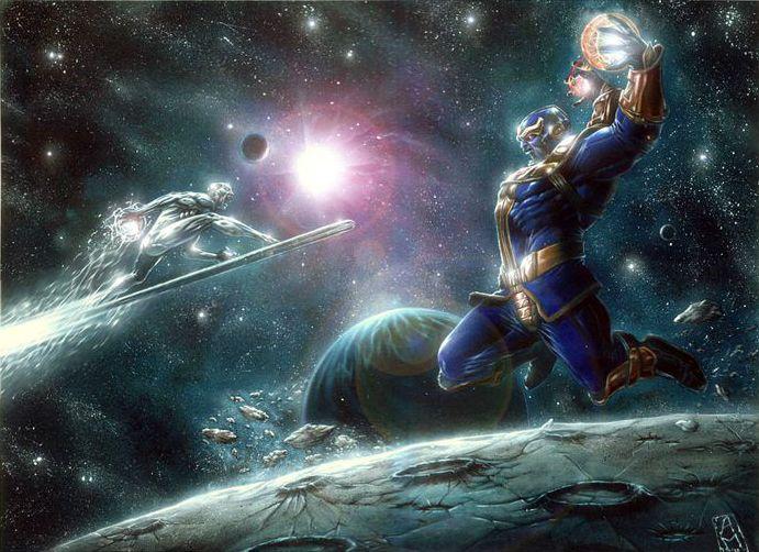 Thanos vs Silver Surfer