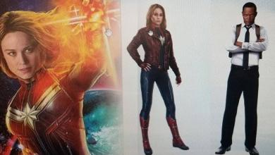 Photo of The First Look At Captain Marvel's Suit And Nick Fury With Both Eyes Revealed